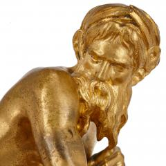 Ferdinand Barbedienne Antique red marble and gilt bronze inkstand by Barbedienne after Caffieri - 1290626