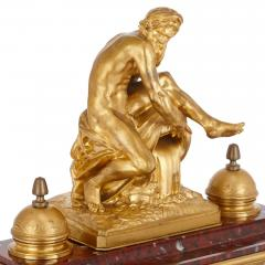 Ferdinand Barbedienne Antique red marble and gilt bronze inkstand by Barbedienne after Caffieri - 1290628