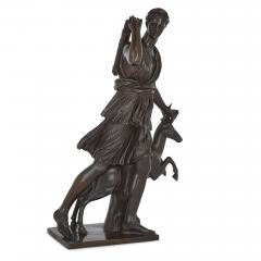 Ferdinand Barbedienne Classical Patinated Bronze Sculpture of Diana by Ferdinand Barbedienne - 1937778