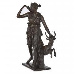 Ferdinand Barbedienne Classical Patinated Bronze Sculpture of Diana by Ferdinand Barbedienne - 1937780