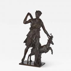 Ferdinand Barbedienne Classical Patinated Bronze Sculpture of Diana by Ferdinand Barbedienne - 1938368