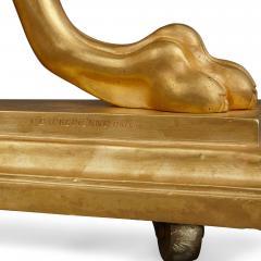 Ferdinand Barbedienne Gilt bronze and pietra dura round table by Barbedienne - 2004386