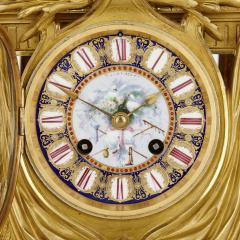 Ferdinand Barbedienne Neoclassical style porcelain and gilt bronze mantel clock by Barbedienne - 1558858