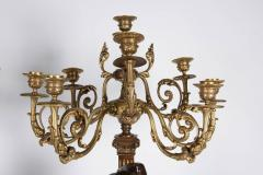 Ferdinand Barbedienne a Large Pair of French Gilt Patinated Bronze Candelabras - 1160186