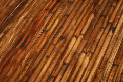 Ferdinando Loffredo Bamboo Black Lacquer and Brass Coffee Table Italy 1970s - 1691769