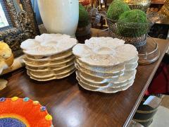 Fern Leaf Artichoke Plates Set of 12 - 1932361