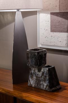 Fernande Kohler Fernande Kohler Sculptural Vase In Glazed Ceramic Vallauris France 1970s - 2039827