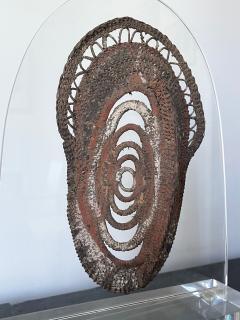 Fiber Polychrome Mask Yam Ancestor Papua New Guinea - 1961209