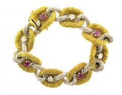 Fiessler Ruby and Diamond Gold Bracelet - 185548