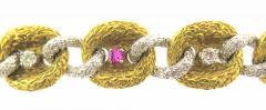 Fiessler Ruby and Diamond Gold Bracelet - 185549