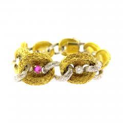 Fiessler Ruby and Diamond Gold Bracelet - 186174
