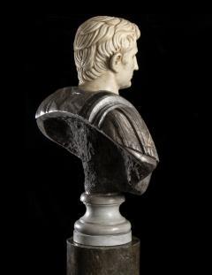Figurative Sculpture Marble Polychrome Portrait Bust of Roman Emperor Augustus - 2075381