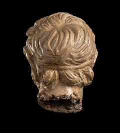 Figurative Sculpture Terracotta Head of a Laughing Satyr Roman Academy 19th - 2022984