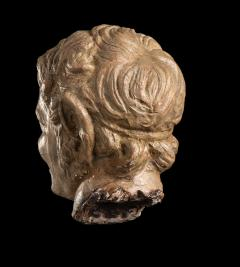 Figurative Sculpture Terracotta Head of a Laughing Satyr Roman Academy 19th - 2022988