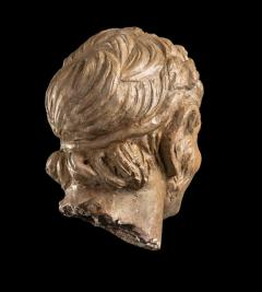 Figurative Sculpture Terracotta Head of a Laughing Satyr Roman Academy 19th - 2022989