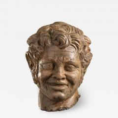 Figurative Sculpture Terracotta Head of a Laughing Satyr Roman Academy 19th - 2023989
