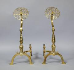 Filigree Brass Andirons - 685962