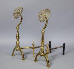 Filigree Brass Andirons - 685967