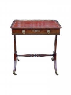 Fine 1815 Regency Mahogany and Bronze Mounted Writing Table - 1069244
