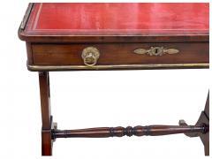 Fine 1815 Regency Mahogany and Bronze Mounted Writing Table - 1069246