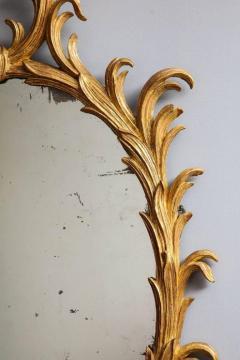 Fine 18th Century English Giltwood Oval Mirror - 645276