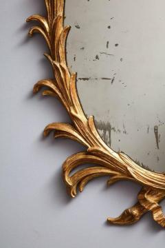 Fine 18th Century English Giltwood Oval Mirror - 645277