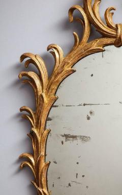 Fine 18th Century English Giltwood Oval Mirror - 645278