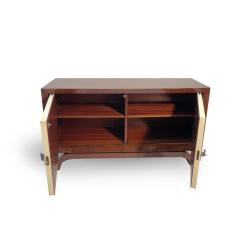 Fine Art Deco Cabinet Palisander Veneer and Parchment  - 1499536