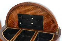 Fine Biedermeier Mahogany Ebonized and Parcel Gilt Globe Form Work Desk - 348796