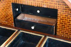 Fine Biedermeier Mahogany Ebonized and Parcel Gilt Globe Form Work Desk - 348797