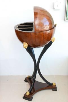 Fine Biedermeier Mahogany Ebonized and Parcel Gilt Globe Form Work Desk - 348801