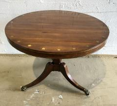Fine English Regency Rosewood and Brass Inlaid Center Table - 1463510