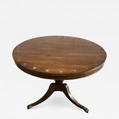 Fine English Regency Rosewood and Brass Inlaid Center Table - 1466239