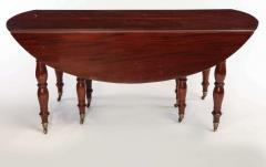 Fine French 18th Century Mahogany Extending Drop Leaf Dining Table - 634332