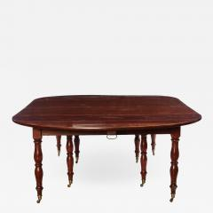 Fine French 18th Century Mahogany Extending Drop Leaf Dining Table - 634611