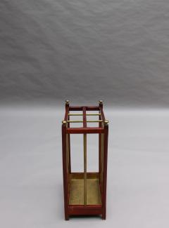 Fine French 1900s Brass and Wood Umbrella Stand - 2067099