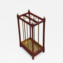 Fine French 1900s Brass and Wood Umbrella Stand - 2068770