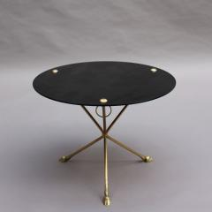 Fine French 1950s Opaline Top Side Table with a Bronze Base - 2004599