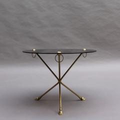 Fine French 1950s Opaline Top Side Table with a Bronze Base - 2004612