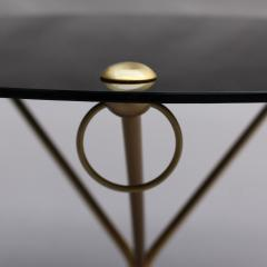 Fine French 1950s Opaline Top Side Table with a Bronze Base - 2004640