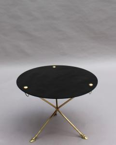 Fine French 1950s Opaline Top Side Table with a Bronze Base - 2004659