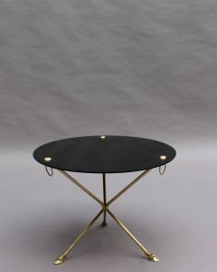 Fine French 1950s Opaline Top Side Table with a Bronze Base - 2004663