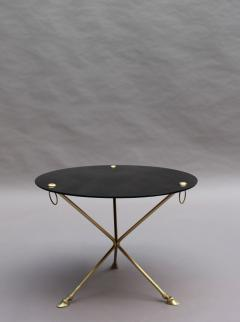 Fine French 1950s Opaline Top Side Table with a Bronze Base - 2004680