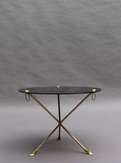 Fine French 1950s Opaline Top Side Table with a Bronze Base - 2004681