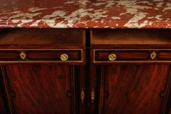 Fine French 19th Century Enfilade with Marble Top Royal Rouge of Languedoc - 636521