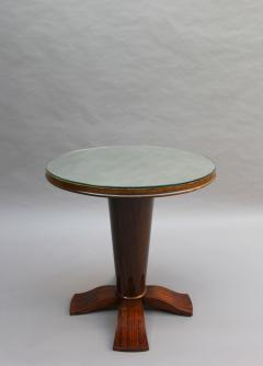 Fine French Art Deco Palisander Gueridon with a Mirrored Top - 2067071