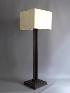 Fine French Art Deco Wooden Base Square Floor Lamp   388350