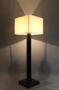 Fine French Art Deco Wooden Base Square Floor Lamp   388352