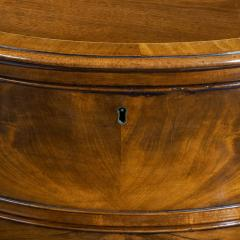 Fine George III Figured Mahogany Serpentine Commode Attributed to Henry Hill - 1153244