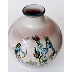 Fine Glazed Earthenware Vase with Amazons Decor - 311536